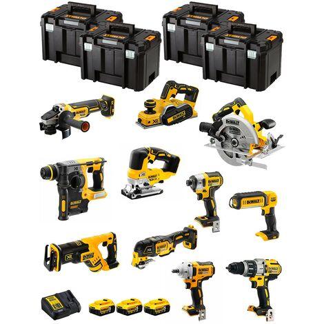 DeWALT Kit DWK1101T (DCD996+DCH273+DCG405+DCF887+DCF894+DCS334+DCS570+ DCS355+DCP580+DCS367+DCL050+ 3x5,0Ah DCB115+4xTSTAK VI)