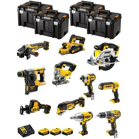 DeWALT Kit DWK1102T (DCD796+DCH273+DCG405+DCF887+DCF899H+DCS331+DCS391+ DCS355+DCP580+DCS369+DCL050+ 3x5,0Ah +DCB115+4xTSTAK VI)