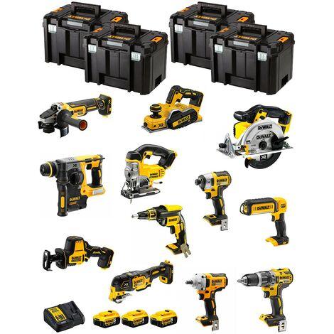 DeWALT Kit DWK1200T (DCD796+DCH273+DCG405+DCF887+DCF894+DCS331+DCS391+ DCS355+DCP580+DCS369+DCL050+DCF620+3x5,0Ah+DCB115)