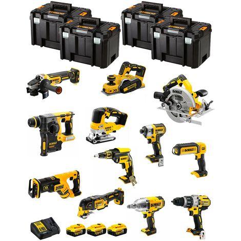 DeWALT Kit DWK1203T (DCD996+DCH273+DCG405+DCF887+DCF899H+DCS334+DCS570+ DCS355+DCP580+DCS367+DCL050+DCF620+3x5,0Ah+DCB115+4xTVI)