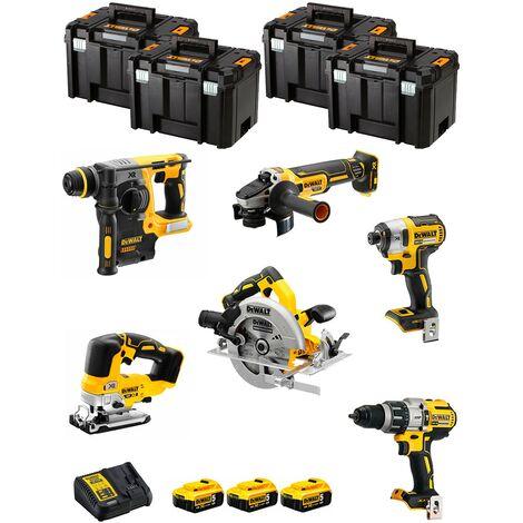DeWALT Kit DWK601T (DCD996 DCH273 DCG405 DCF887 DCS334 DCS570 3 x 5,0 Ah DCB115 4 x TSTAK VI)