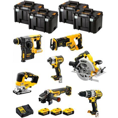 DeWALT Kit DWK703T (DCD996 DCH273 DCG405 DCF887 DCS334 DCS570 DCS367 3 x 5,0 Ah DCB115 4 x TSTAK VI)