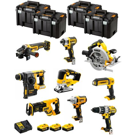 DeWALT Kit DWK901T (DCD996 DCH273 DCG405 DCF887 DCF894 DCS334 DCS570 DCS367 DCL050+ 3x5,0AhDCB115+ 4xTSTAK VI)