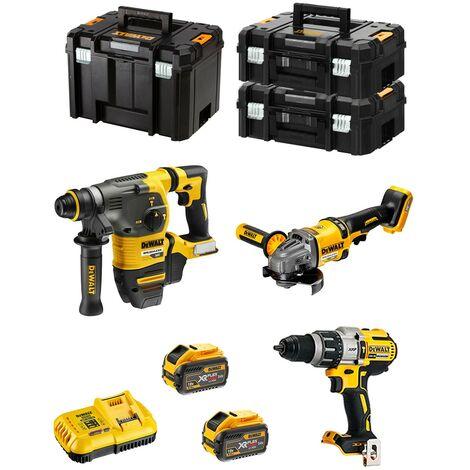 DeWALT Kit FVK381X2HD-QW 54V/18V (DCH333 + DCD996 + DCG414 + 2 x 9,0 Ah + DCB118 + 2 x TSTAK II + TSTAK VI)