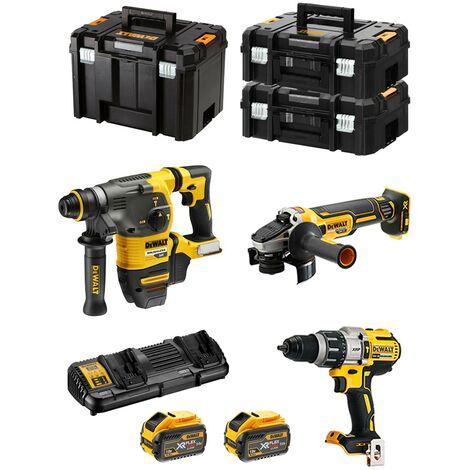 DeWALT Kit FVK395X2 54V/18V (DCH333 DCG405 DCD996 2 x 9,0 Ah DCB132 TSTAK VI 2 x TSTAK II)