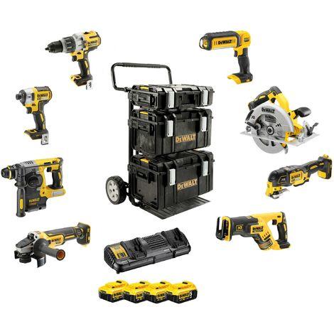 DeWALT Kit sans fil, 8 outils, 18,0 V / 5 Ah - DCK853P4-QW