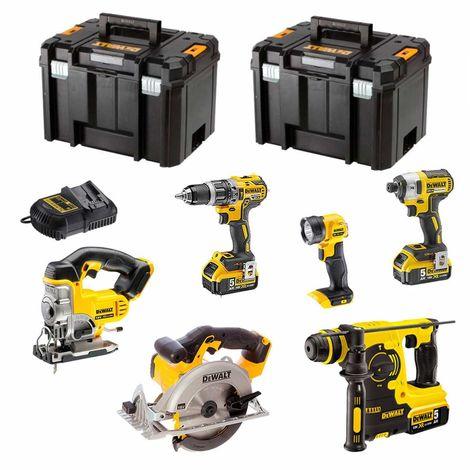 DeWALT Kit XP658P3T (DCD796 + DCF887 + DCS331 + DCS391 + DCH253 + DCL040 + 3 x 5,0 Ah + DCB115 + 2 x TSTAK VI)