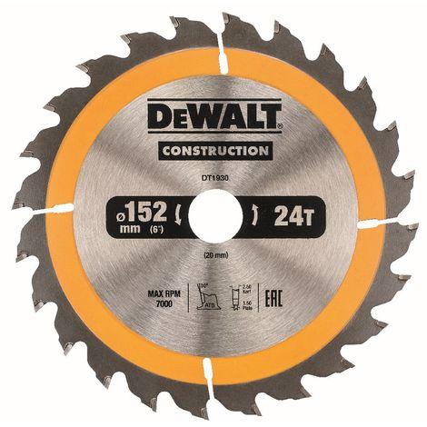 DeWALT Lame de scie circulaire, 152/20 mm - DT1930-QZ
