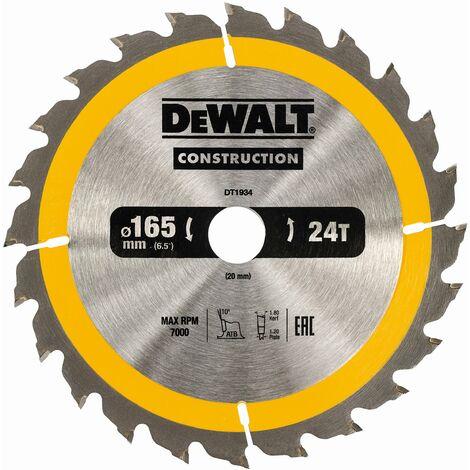 DeWALT Lame de scie circulaire, 165/20 mm, 24 dents - DT1934-QZ