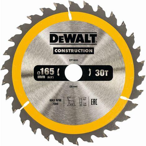 DeWALT Lame de scie circulaire, 165/20 mm, 30 dents - DT1935-QZ