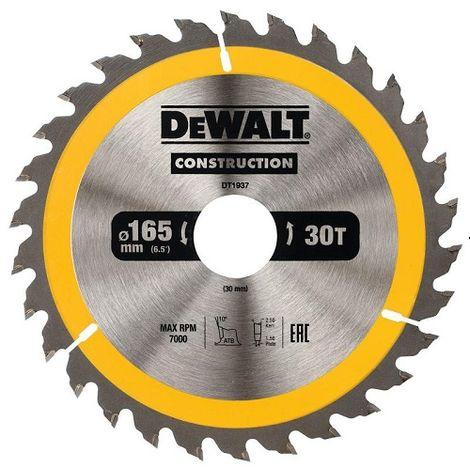 DeWALT Lame de scie circulaire, 165/30 mm, 30 dents - DT1937-QZ