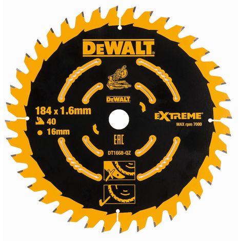 DeWALT Lame de scie circulaire, 184/16 mm, 40 dents, pour DCS365 - DT1668-QZ