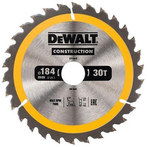 DeWALT Lame de scie circulaire, 184/30 mm, 30 dents - DT1942-QZ