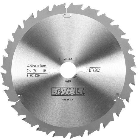 DeWALT Lame de scie circulaire 250/30mm 24FZ - DT4202-QZ