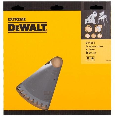 DeWALT Lame de scie circulaire 250/30mm 40WZ - DT4322-QZ