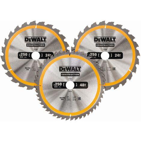 DeWALT Lame de scie circulaire (3x), stationnaire - DT1963-QZ
