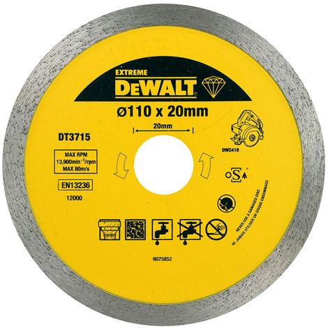 DeWALT Meule de tronçonnage 110 x 20 mm - DT3715-QZ