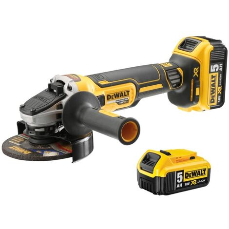DeWALT Meuleuse 125mm 18V/5 Ah (Brushless) DCG405P3