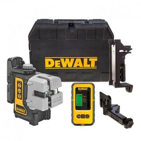 DeWalt - Niveau laser multiligne 3 faisceaux porté 15 m précision +/- 0.3 mm/m avec detecteur