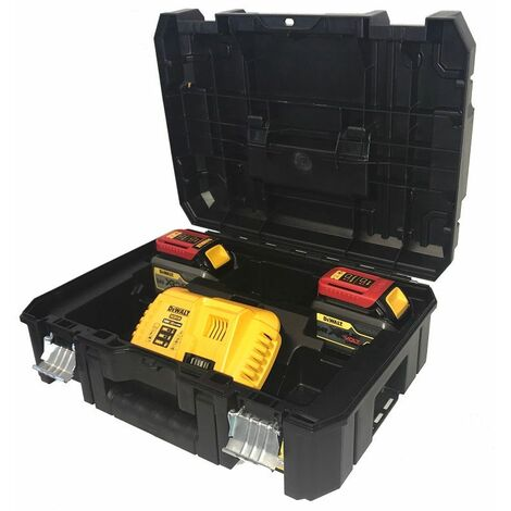 DeWALT Pack 2 batteries XR FLEXVOLT 18V/54V 6Ah/2Ah Li-Ion + chargeur rapide - DCB118T2T-QW