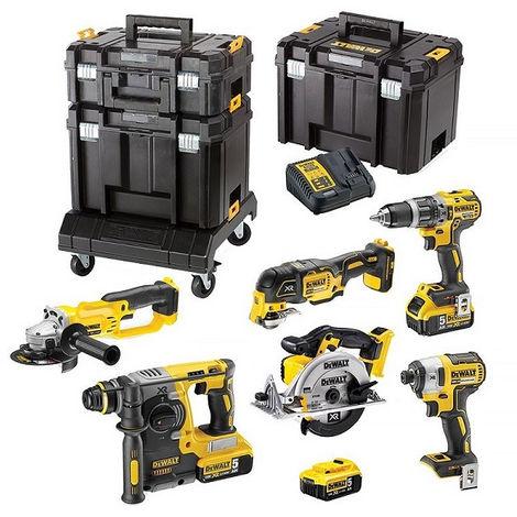 DEWALT Pack 6 outils XR 18V 5Ah - DCK654P3T