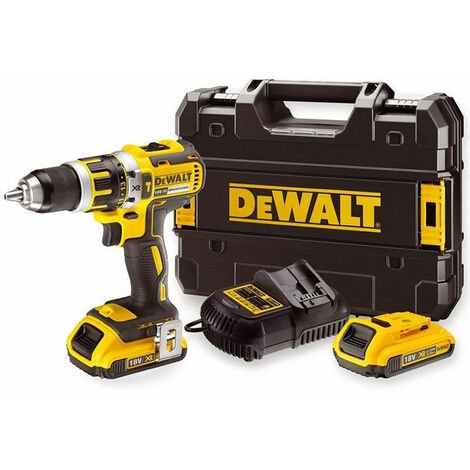DeWALT Perceuse à percussion sans fil brushless 18V/2Ah, 2 x batteries, chargeur - DCD795D2-QW