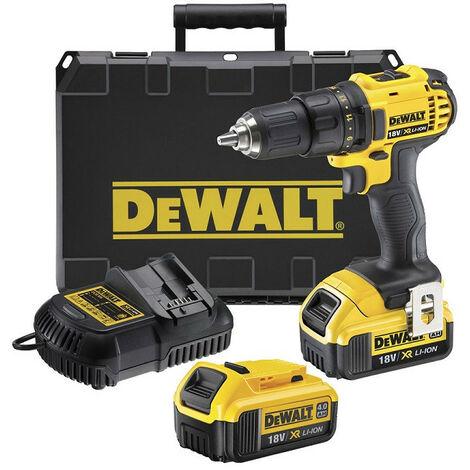 DeWalt - Perceuse Visseuse 13mm 18V Li-Ion 2x4Ah 35 Nm - DCD780M2 - TNT