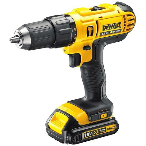 DeWalt - Perceuse visseuse à percussion à batterie 18V Li-Ion 2x1,3Ah - DCD776C2 - TNT