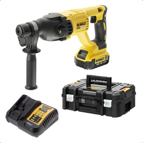 DeWalt - Perforateur burineur SDS-Plus 18V XR 4Ah Li-Ion 2.6 J avec malette TSTAK II - TNT