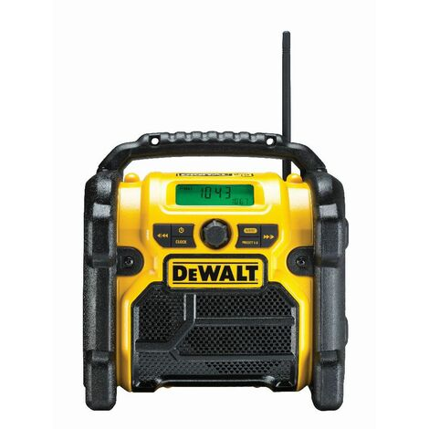 DeWALT Radio de chantier avec DAB+ pour 10,8 - 18,0 V batteries XR Li-Ion - DCR020-QW