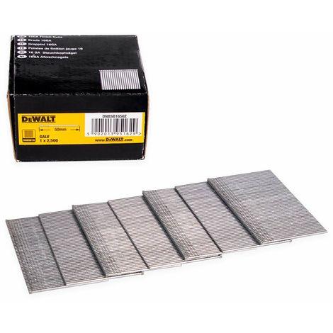 DeWALT Stauchkopfnagel DNBSB, Druckluftnagel, Tacker, galvanisiert, verschiedene Längen - 2500 Stück