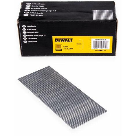 DeWALT Stauchkopfnagel DNBT, Druckluftnagel, Tacker, galvanisiert, verschiedene Längen, galvanisiert - 5000 Stück