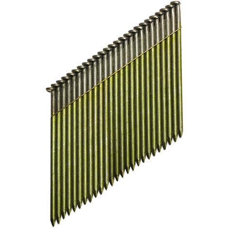 DeWALT Streifennagel DNW31R Ring Druckluftnagel, Tacker, 70-90mm Länge, 3,1 mm Durchmesser, 34 Grad - 2200 Stück