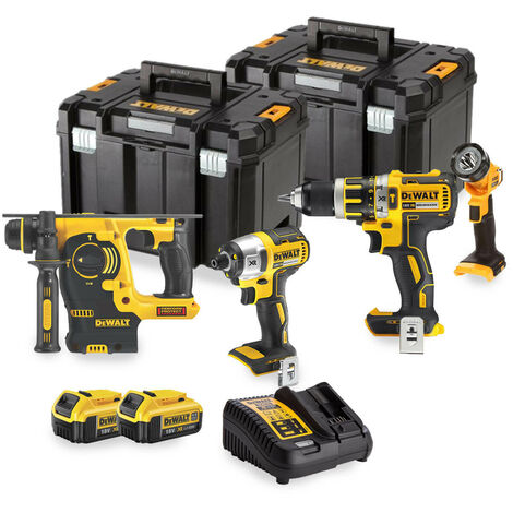 Dewalt TD4KIT4D 4 Piece Cordless Kit with 2 x 4.0Ah Batteries