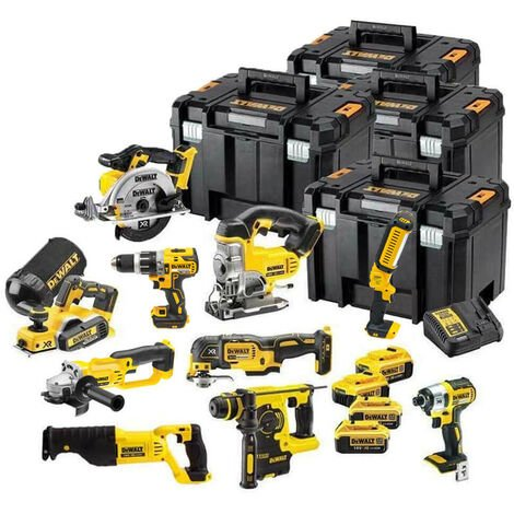 DeWalt TDKIT10x4 18V XR 10 Piece Kit with 4 X 4.0Ah Batteries