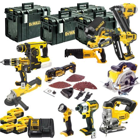 Dewalt TDKIT12x4 XR 18V 12 Piece Kit With 5 X 4.0Ah Batteries
