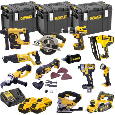 DeWalt TDKIT12X4 XR 18V 12 Piece Power Tool Kit with 4x 5.0Ah Batteries