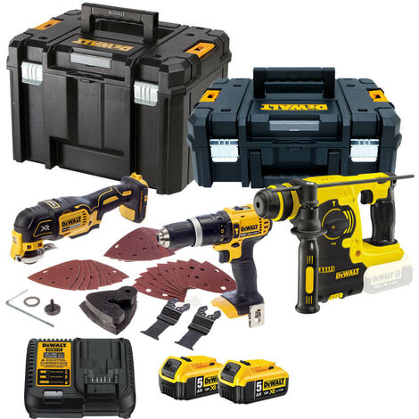 Dewalt TDKIT3x5 3 Piece Kit + 2 x 5.0amp Batteries