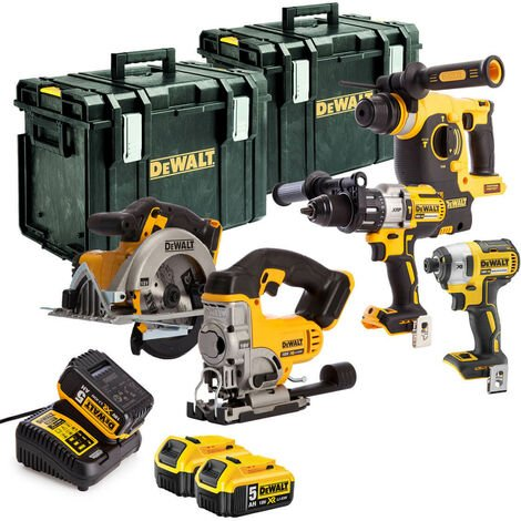 DeWalt TDKIT5D 18V 5 Piece Kit with 3x 5.0Ah Batteries