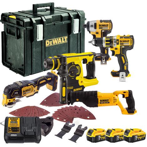 Dewalt TDKIT5x5 5 Piece Kit with 3 x 5.0Ah Batteries