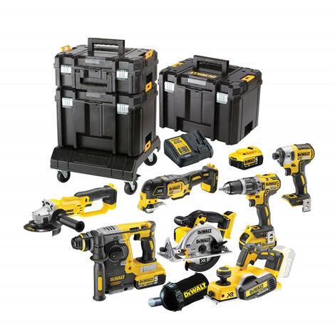 DeWalt TDKIT8x3 Cordless 18v 8 Piece Kit with 3 x 5.0Ah Batteries