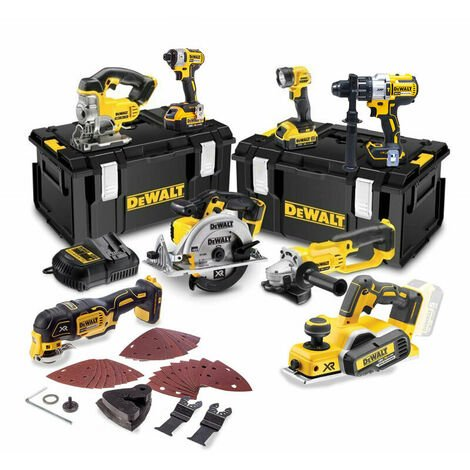 DeWalt TDKIT8x4 18V Cordless 8 Piece Kit with 3x 4.0Ah Batteries