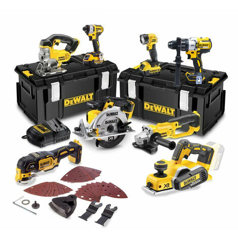 DeWalt TDKIT8x4 8 Piece 18v Cordless Kit with 3 x 4.0Ah Batteries