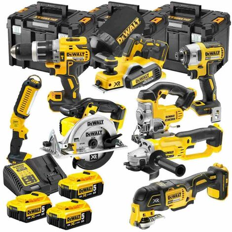 DeWalt TDKIT8x4 XR 18V 8 Piece Kit with 3 x 5.0Ah Batteries