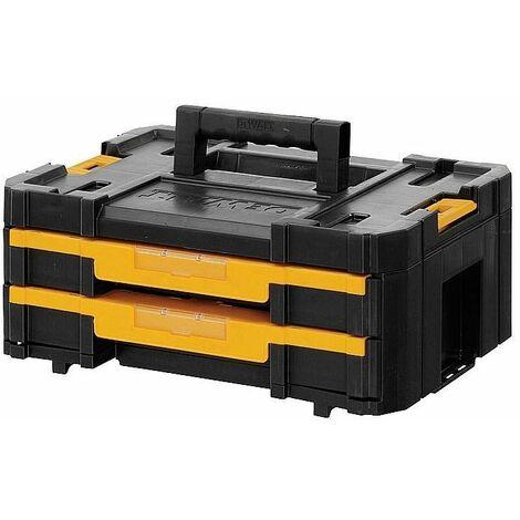 DeWALT TSTAK Box IV Malette avec 2 tiroirs et diviseur - DWST1-70706