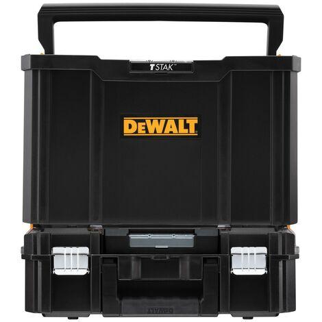 Dewalt Tstak Tool Carry Open Tote Tool Box Carrier + TStak II Case - Twin Pack