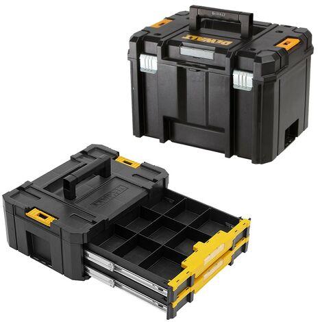 Dewalt Tstak VI Combo - Heavy Duty Deep Tool Storage Case + 2 Drawer Organiser