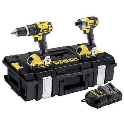 DEWALT TWIN COMBI KIT 4.0AH 18V 2 BATTS