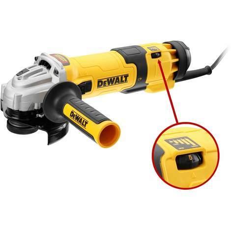 DeWALT Winkelschleifer DWE4246-QS Ø 115 mm / 1200 Watt mit Drehzahlvorwahl und Zubehör DeWALT - 15476