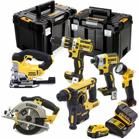 Dewalt XR DCK699P2T 6 Piece Cordless Kit 2X 5.0AH Batteries